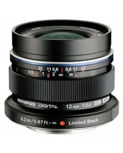 Olympus M.Zuiko Digital ED 12mm/F2.0 zwart